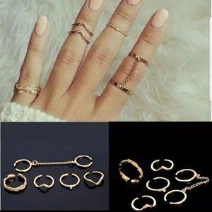 Jewelry - Boho Midi knuckle Ring Set Gold